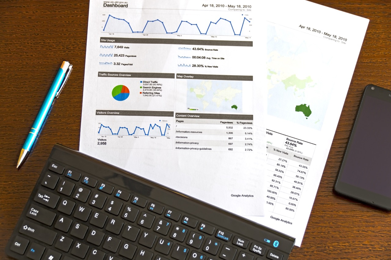 Business Papers Showing Local SEO Statistics