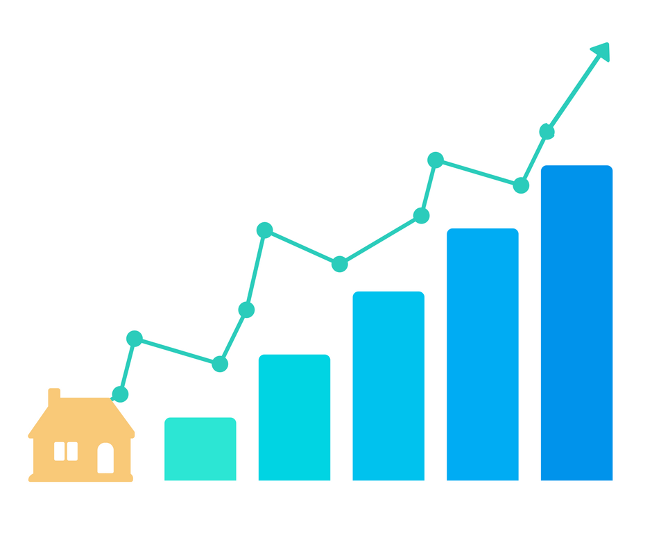 House and Bar Graph Graphic Showing the Importance of Backlinks